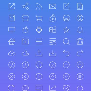 90枚iOS 7风格图标下载